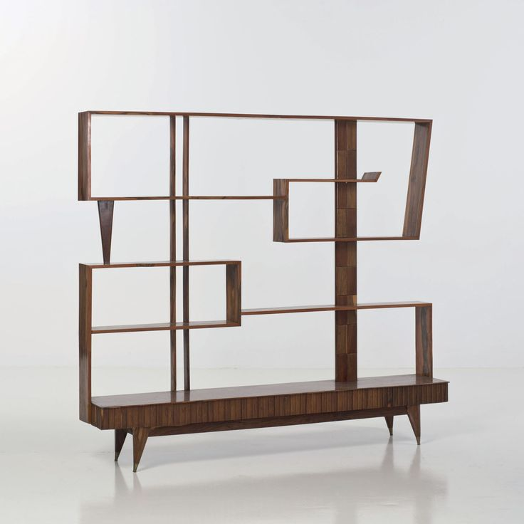 Paolo Buffa Attributed; Exotic Woods Bookshelf, c1950.