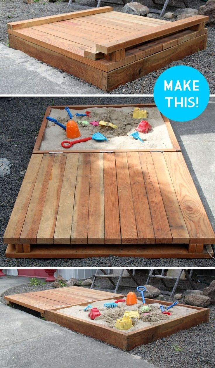 Deluxe DIY Sandbox Tutorial - I will so make this for my future kids!