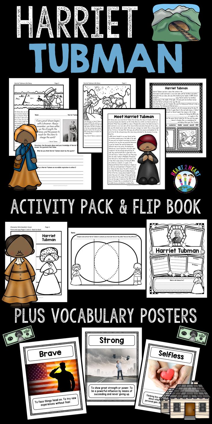Your students will love learning about one of the most inspirational African-American women of all time. Harriet Tubman was an inspirational leader and humanitarian. Harriet Tubman escaped slavery and rescued hundreds of other slaves using a system of safe houses known as the Underground Railroad.**This unit has been completely updated with reading passages and activities in 2017!!***