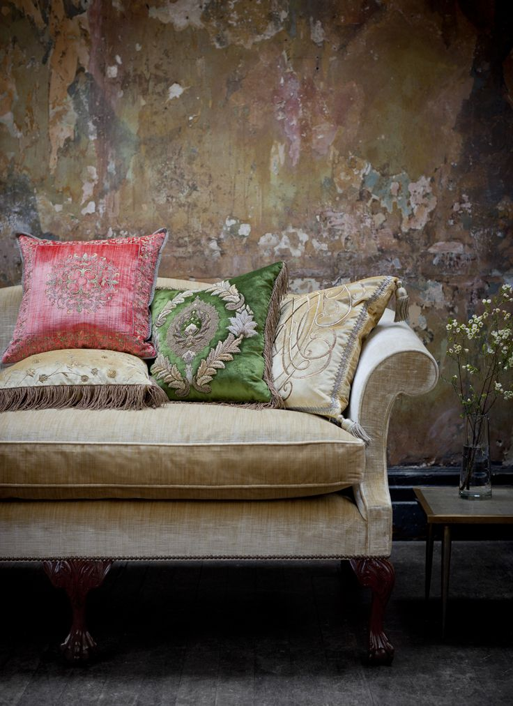 Couture cushions - Felicia, Rossini, Boccaccio and Anastasia.
