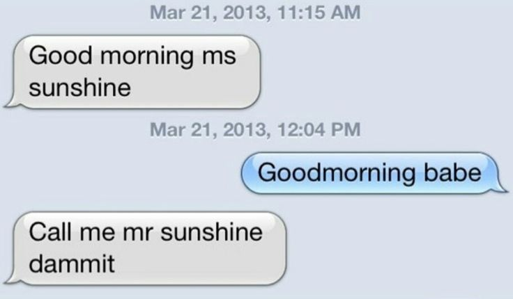 Our morning msgs are way awesomer but this sounds quite like us!