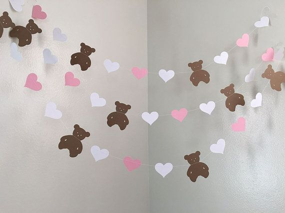 Teddy Bear Baby Shower Decorations Teddy Bear Birthday Party Decorations Teddy Bear Garland 1st Birthday Decor Custom Colors 10FT Pink Its a girl Teddy Bear Baby Shower Decorations Teddy Bear by ClassicBanners