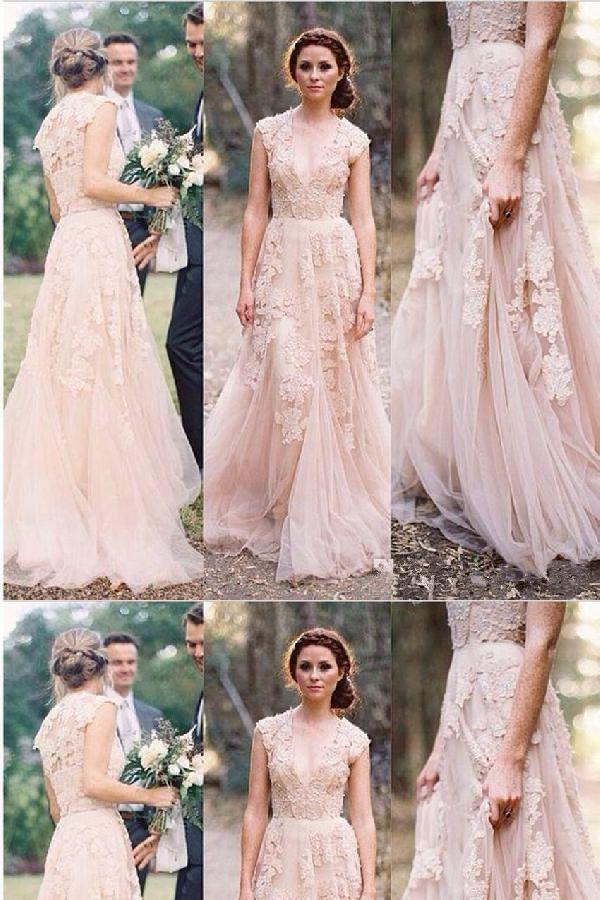 Pretty Evening Dress Evening Dress With Appliques Pink Evening