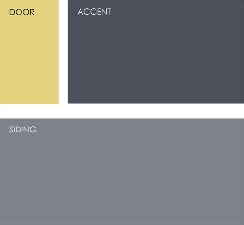 House colors that go with a yellow door!