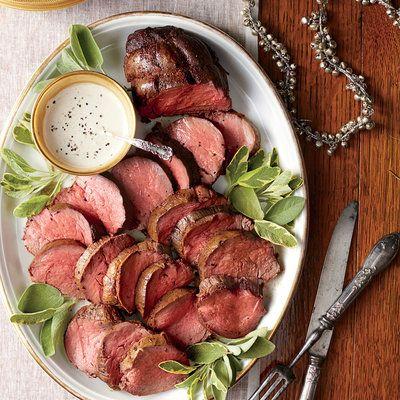 Elegant Holiday Entrées: Spice-Rubbed Tenderloin with Mustard-Cream Sauce