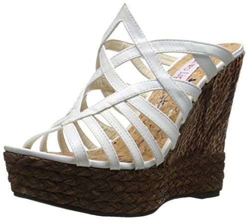 Two Lips Womens Daniella Wedge Sandal White 11 M US You can get additional