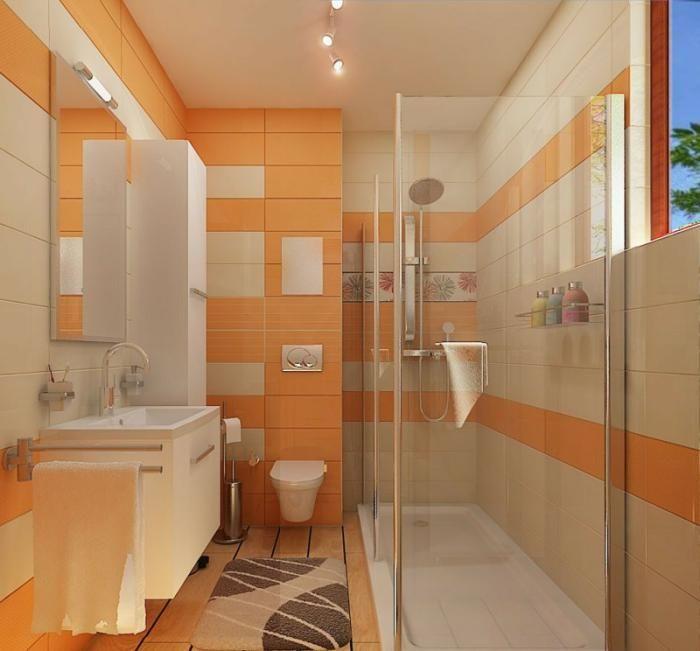 Die besten 25+ Orange kleine badezimmer Ideen auf Pinterest - farbe für badezimmer