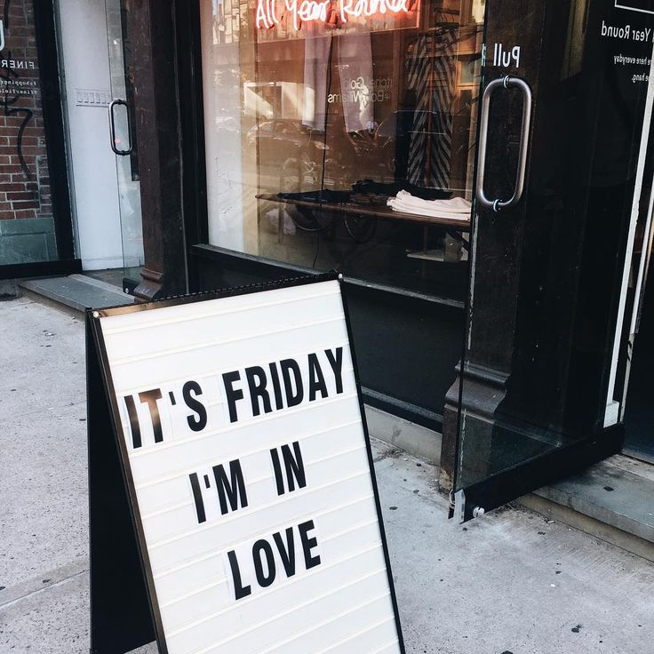 In love with Friday T H O U G H