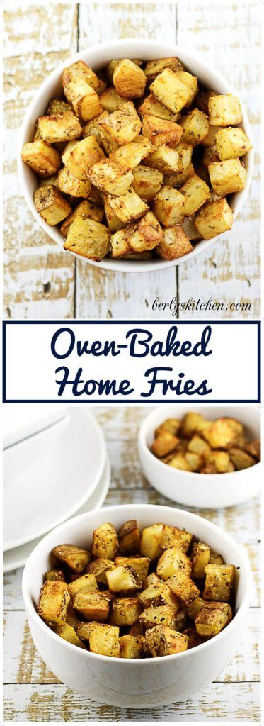 These tasty oven-baked home fries are tossed with olive oil,  perfectly seasoned, and have a crispy crust.  via @berlyskitchen