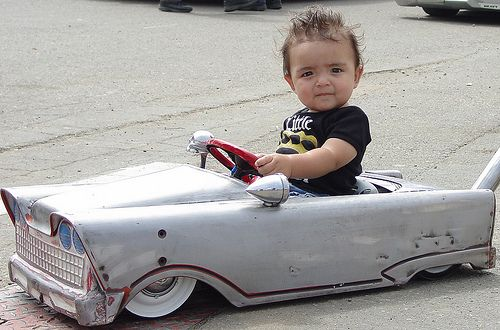 Slammed peddle car. Cute kid,too! ....Like going fast? Call or click: 1-877-INFRACTION.com (877-463-7228) for local lawyers aggressively defending Traffic Tickets, DUIs and Suspended Licenses throughout Florida