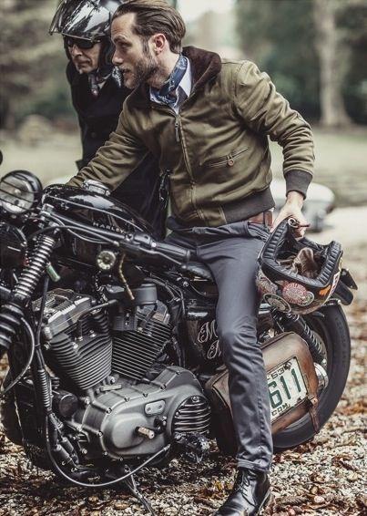 Motociclista vintage