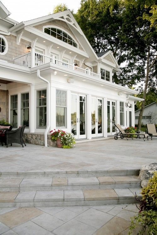 love thisPatios Design, Dreams Home, Stones Patios, Sunrooms, Exterior Design, Dreams House, Traditional Exterior, Porches, Sun Rooms