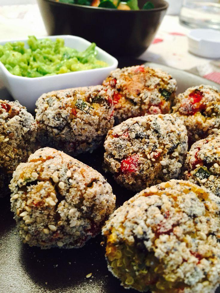 polpette quinoa con avocado