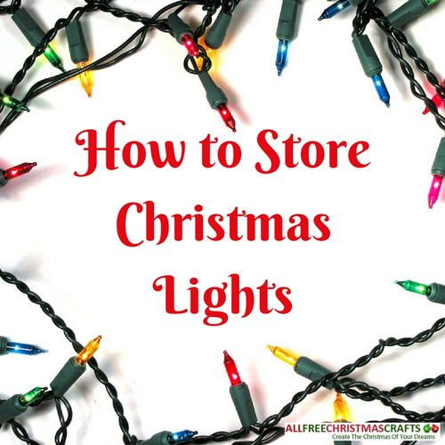 How to Store Christmas Lights | DIY Christmas light storage ideas to help you after the holidays.
