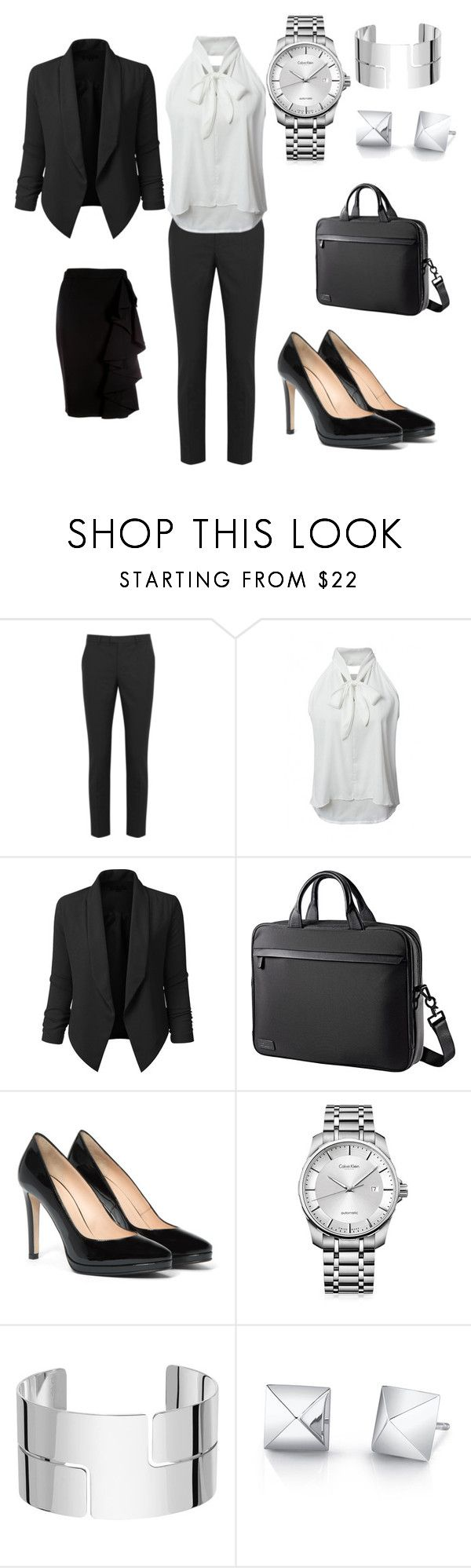 """Business"" by balog-viki on Polyvore featuring RED Valentino, WithChic, LE3NO, Aquatalia by Marvin K., Calvin Klein, Dinh Van and Moschino"