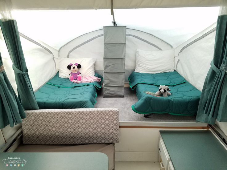 Pop Up Camper Sleeping - How to sleep two kids in one bunk ...