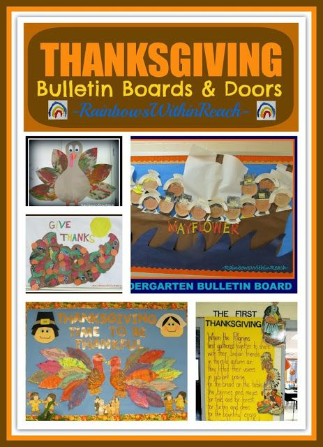Thanksgiving (and Fall) Bulletin Boards and Classroom Doors via RainbowsWithinReach