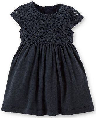 Carter's Baby Girls' Lace-Bodice Dress