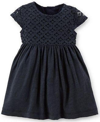 Carter's Baby Girls' Lace-Bodice Dress