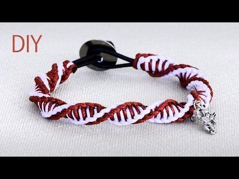 DIY: Macrame Double Spiral Bracelet - Tutorial - YouTube