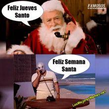 Jueves santo vs Semana Santa meme