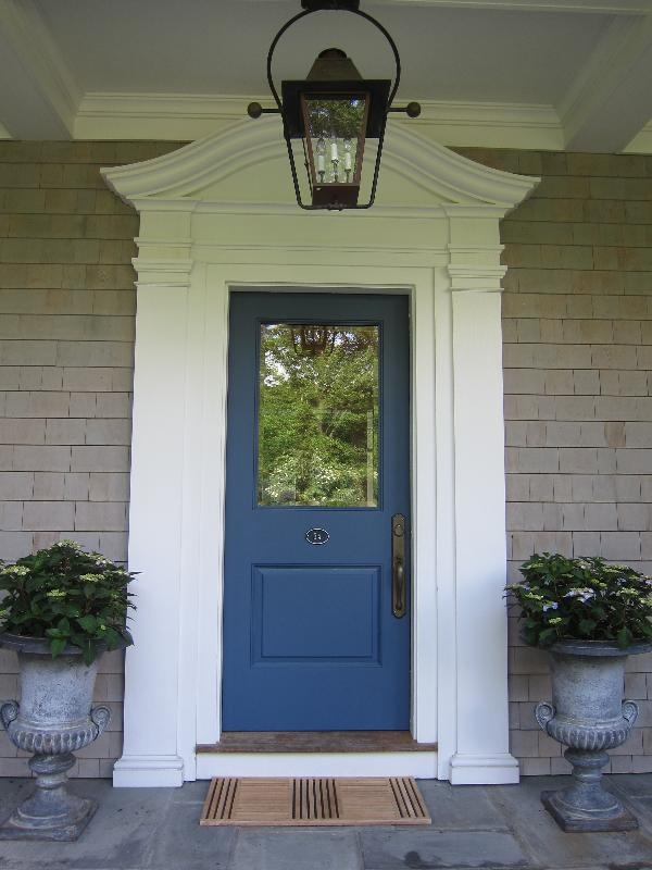 front doors for colonial style house. maybe not this color, but thinking some bright accent color for our front door? doors colonial style house