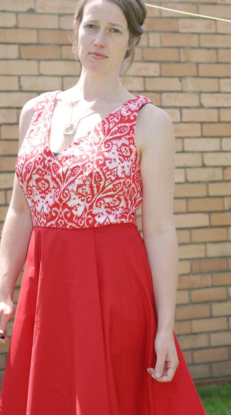 flora dress by hand london mock wrap bodice fba