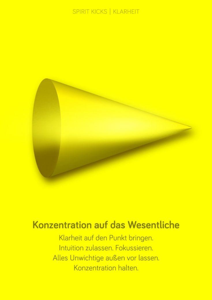Trend SPIRIT KICK now Konzentration auf das Wesentliche einfach die gelbe Form anschauen und den
