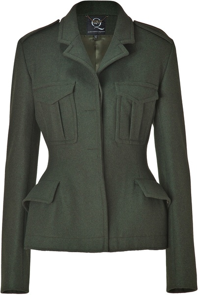 ALEXANDER MCQUEEN MCQ Military Green Wool Army Jacket
