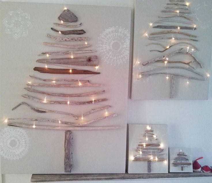legni originale albero di natale su tela di sundaebest | notonthehighstreet.com