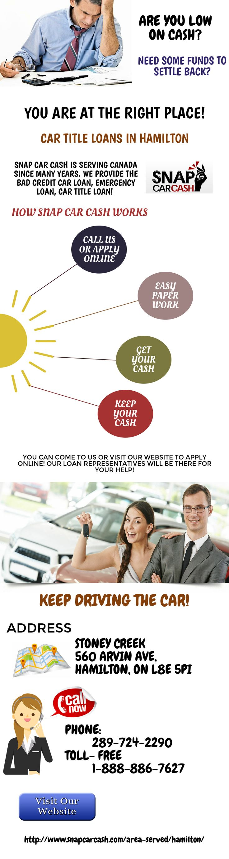 With snap car cash you will be able to get a loan amount of up to