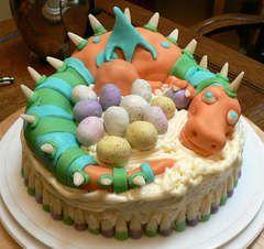 A cute birthday cake for a little boy.