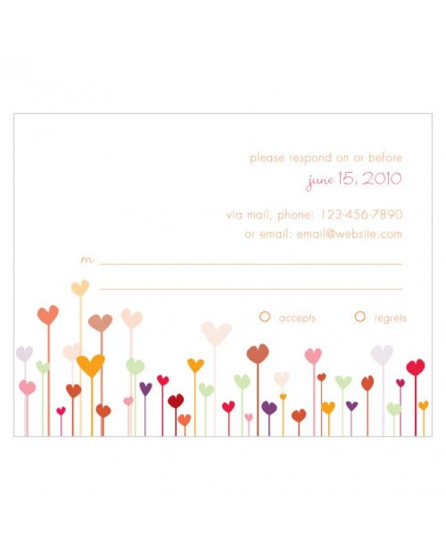 Hearts RSVP Calm Wedding www.mybridalsupply.com