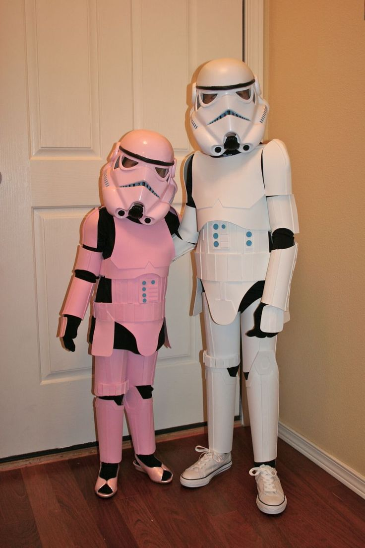 This is my cheap attempt at stormtrooper costumes for my 4 and 6 year olds. It's made to be lightweight and flexible for comfort but still hold true to the movie armor and look cooler than the store-bought stuff out there. Because of the materials used, these costumes won't hold up to rough play or prolonged wear. Actually, they got pretty beat up after simply trick or treating. Within the steps I'll tell you how I did certain things and what I would do differently. My son's costume was my…