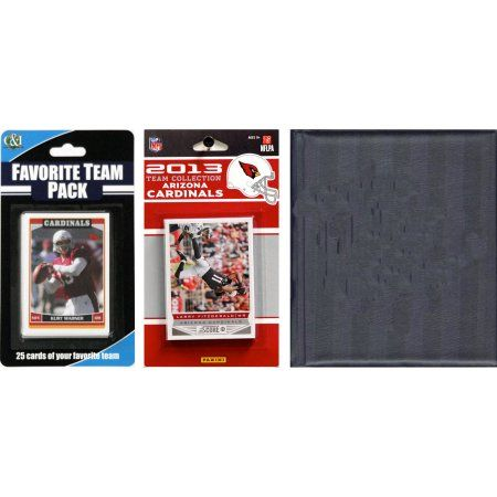 C Collectables NFL Arizona Cardinals Licensed 2013 Score Team Set and Favorite Player Trading Card Pack Plus Storage Album