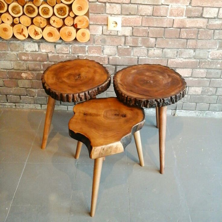 Doğal ağaç zigon sehpa ✔ Natural tree log tables