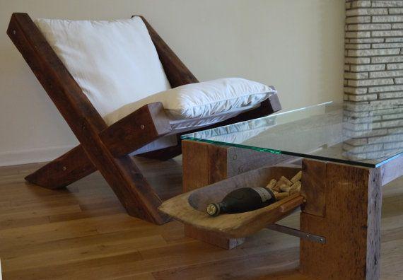 Ξύλο Barn Πολυθρόνα από TicinoDesign στο Etsy