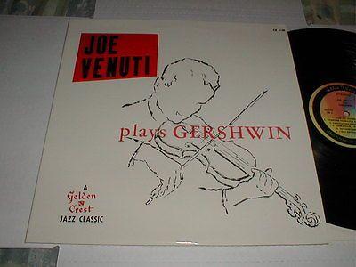 Joe-Venuti-PLAYS-GERSHWIN-Golden-Crest-LP-1960-Violin-Swing-Jazz-Night-Club-VG