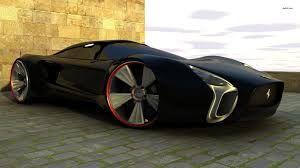 Black Ferrari Concept Car