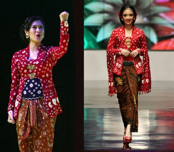 Kebaya Jumputan Koleksi Anne Avantie, Indonesia Sehati, IFW 2012, di Plenary Hall Jakarta Convention Center (26/02)