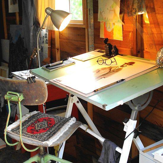 drawing desk...