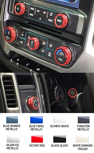 2014 Silverado Interior Knob Kit - Choose Your Color