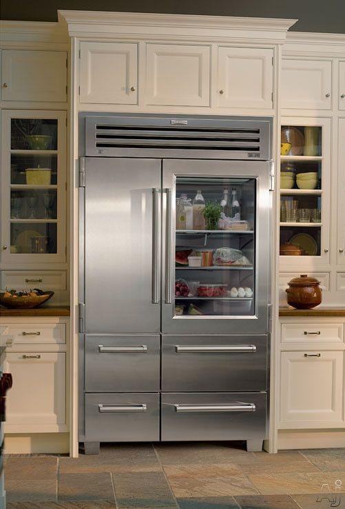 Sub zero 648prog 48 built in side by side refrigerator - Glass door fridge for home ...