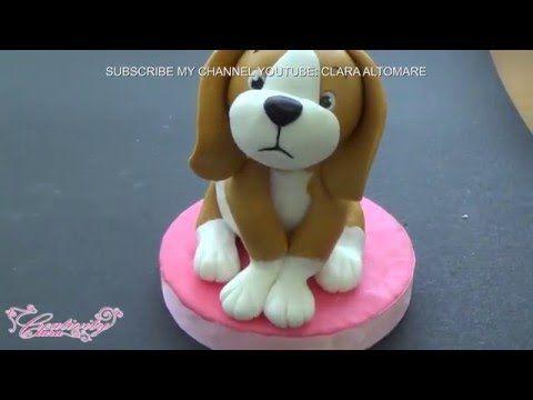 HOW TO BEAGLE DOG CAKE TOPPER FONDANT - TUTORIAL CANE BEAGLE TORTA DECORATA IN PASTA DI ZUCCHERO - YouTube