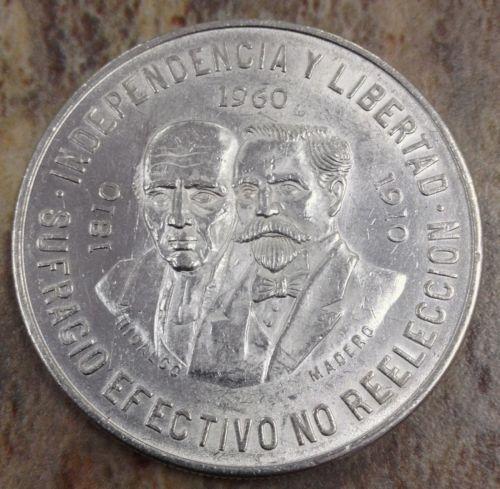 1960 Diez Pesos 90 Silver Mexican Coin 10 Peso Mexican Coin No Reserve | eBay