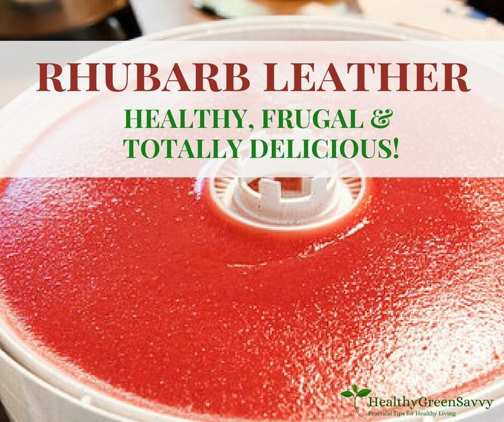 Homemade fruit leather is easy and so much better than store-bought! This recipe uses rhubarb, so you're actually getting in a serving of vegetables!