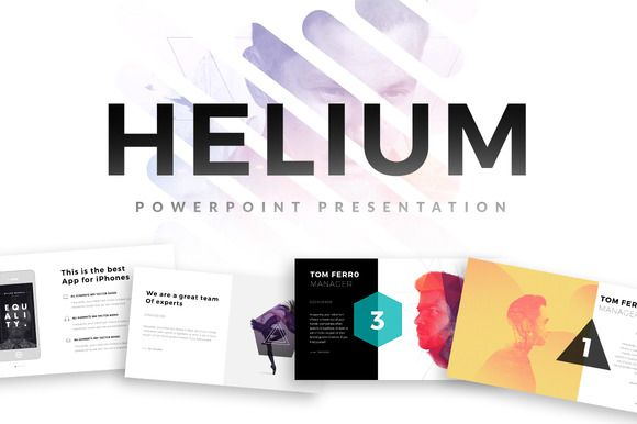 Helium PowerPoint Template by Slidedizer on Creative Market