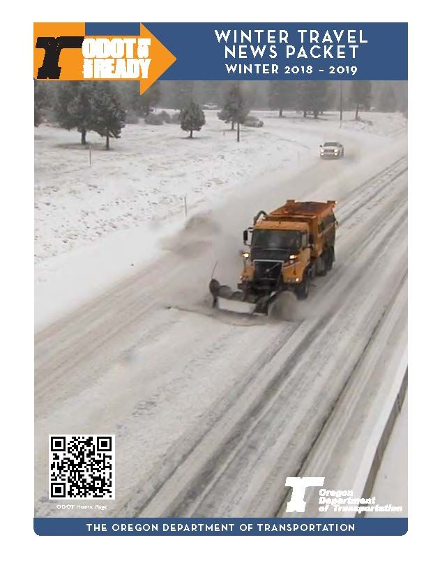 Winter travel news packet, by the Oregon Department of Transportation