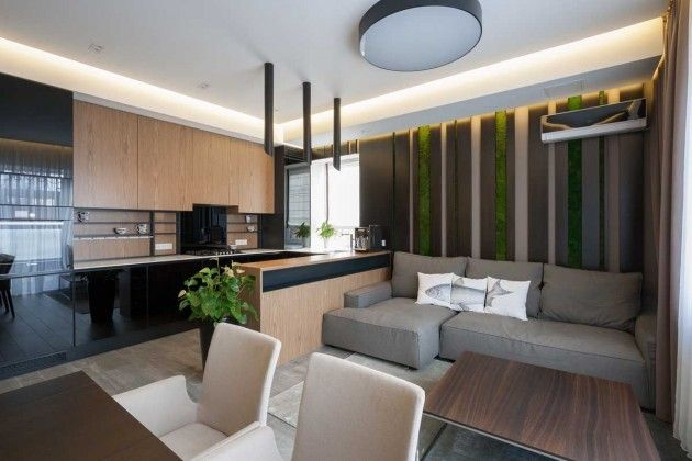 Ukraine based SVOYA Studio have designed the interiors of a country house.