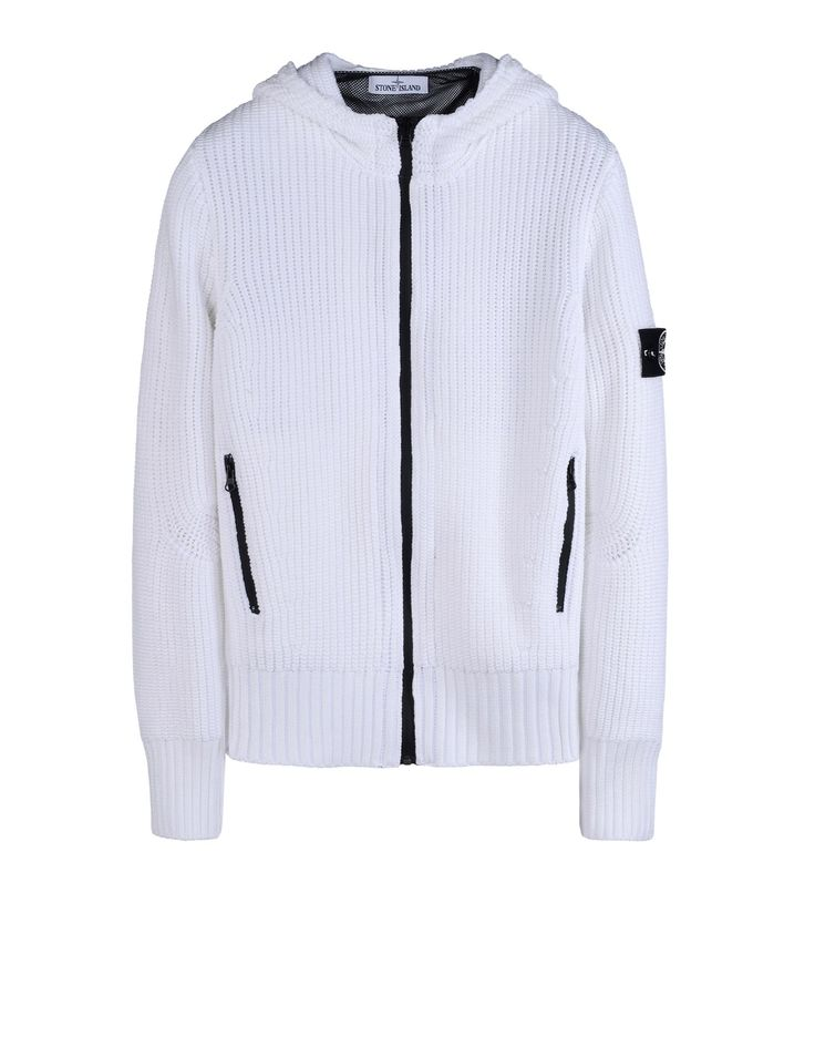 555A6 NIGHT GLOW KNIT Cardigan Stone Island Homme - Official Online Store